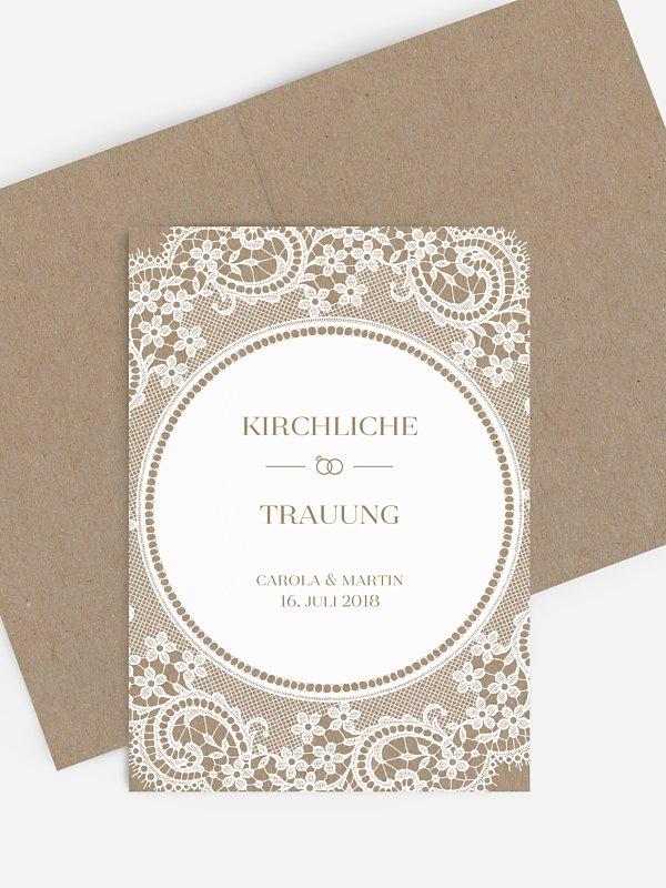 Kirchenheft Hochzeit Chantilly Kraftpapier