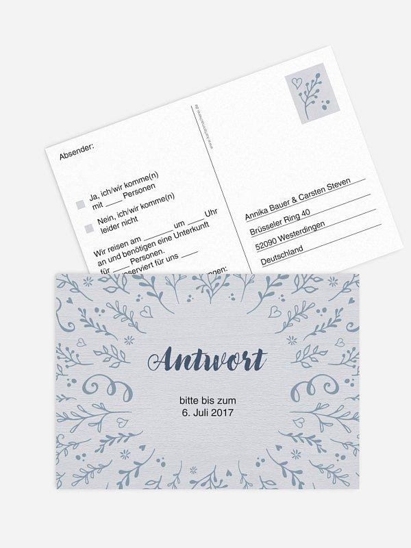 Antwortkarte Hochzeit Lovely Branch