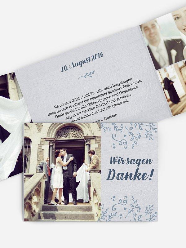 Dankeskarte Hochzeit Lovely Branch