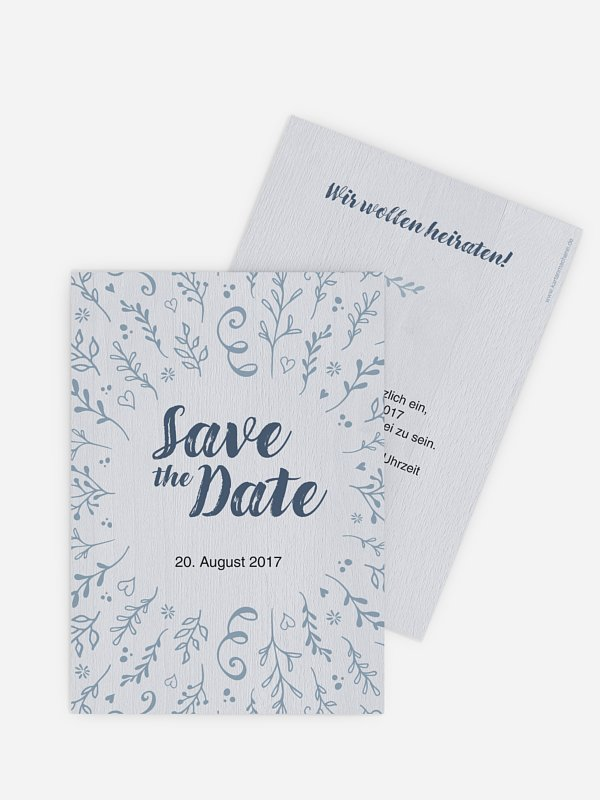 Save-the-Date Karte Lovely Branch