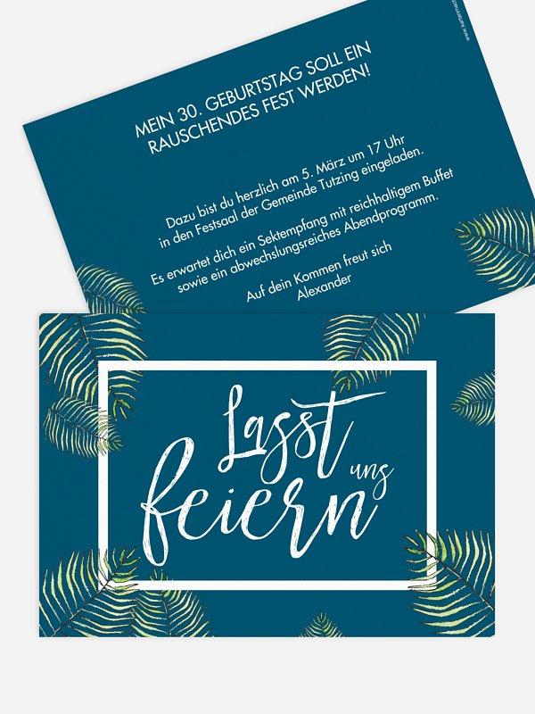 Einladung 30. Geburtstag Love Palms