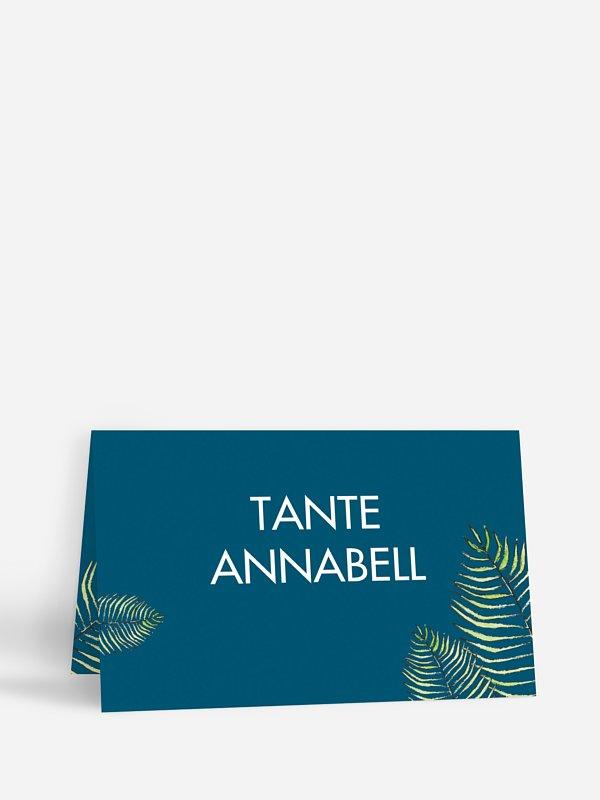 Tischkarte Geburtstag Love Palms