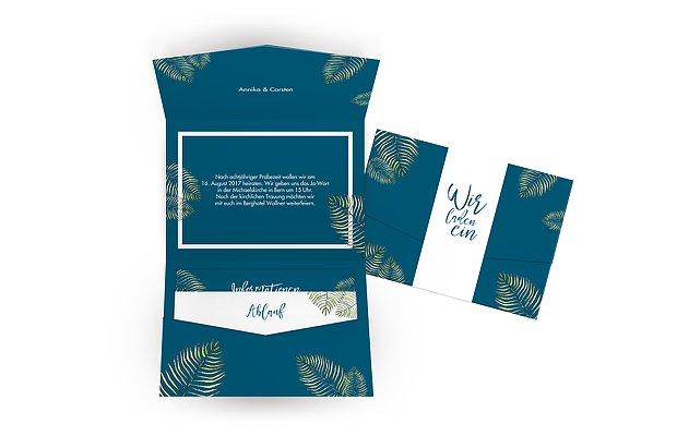 Hochzeitseinladung Love Palms