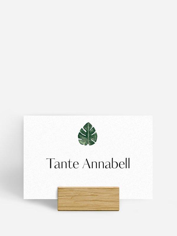 Tischkarte Hochzeit Greenery Leaves
