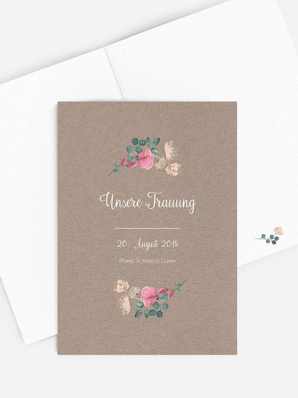 Kirchenheft Hochzeit Vintage Rose