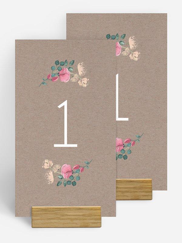 Tischnummer Vintage Rose