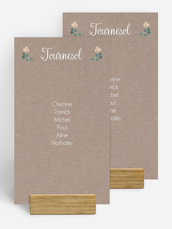 Nom de table mariage Jardin vintage