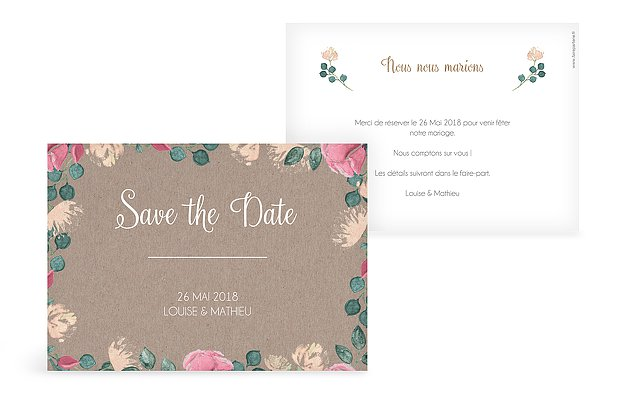 Save the date Jardin vintage