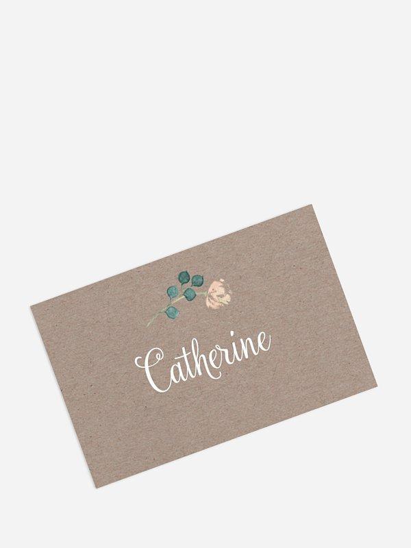 Marque-place mariage Jardin vintage