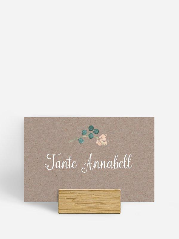 Tischkarte Hochzeit Vintage Rose