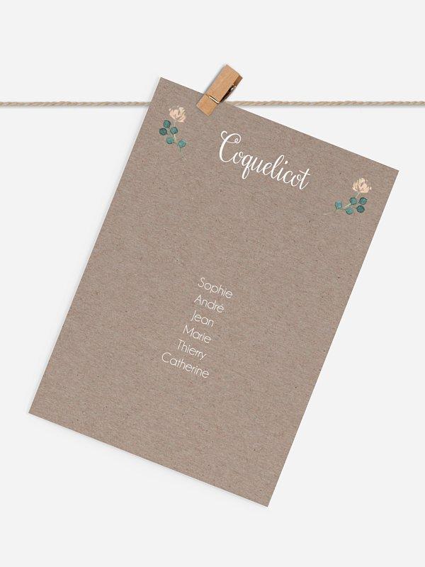 Cartons plan de table mariage Jardin vintage
