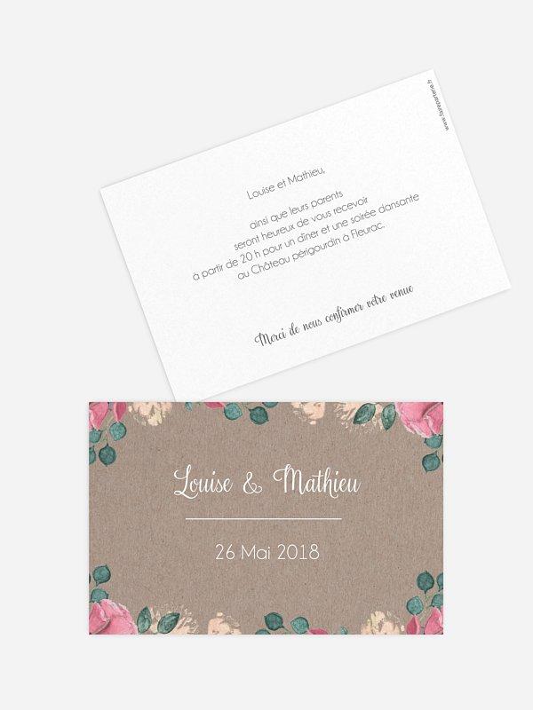 Carton d'invitation Jardin vintage