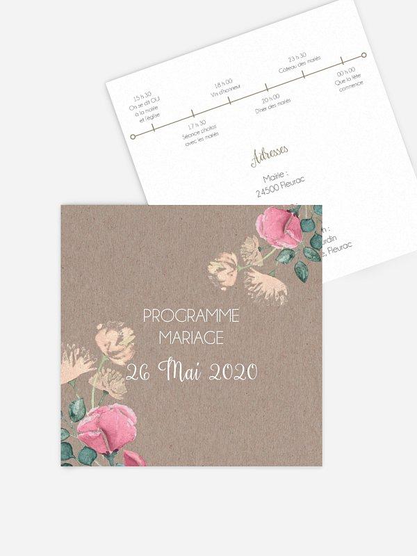 Programme mariage Jardin vintage