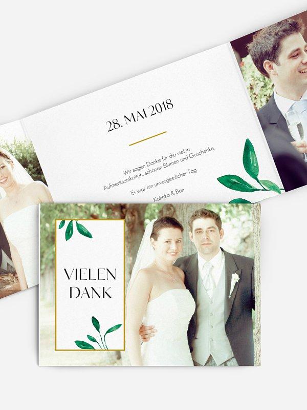 Dankeskarte Hochzeit Botanic Love