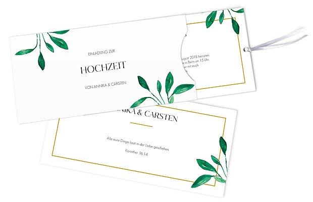 Hochzeitseinladung Botanic Love