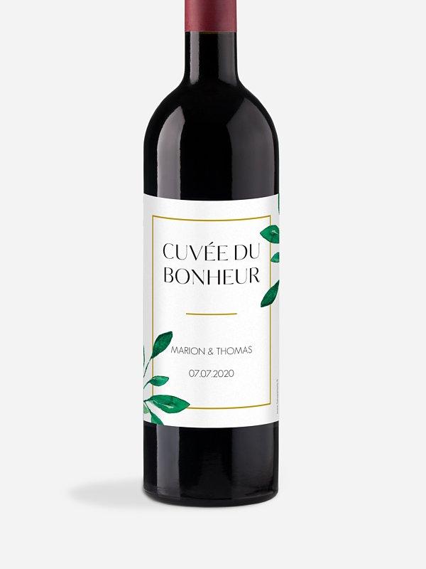 Étiquette bouteille Botanique