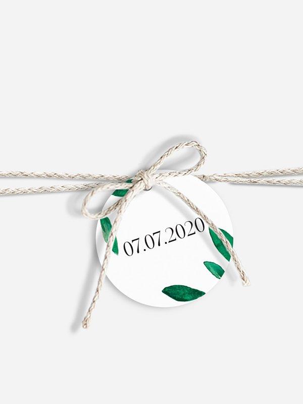 Étiquette avec ruban Botanique