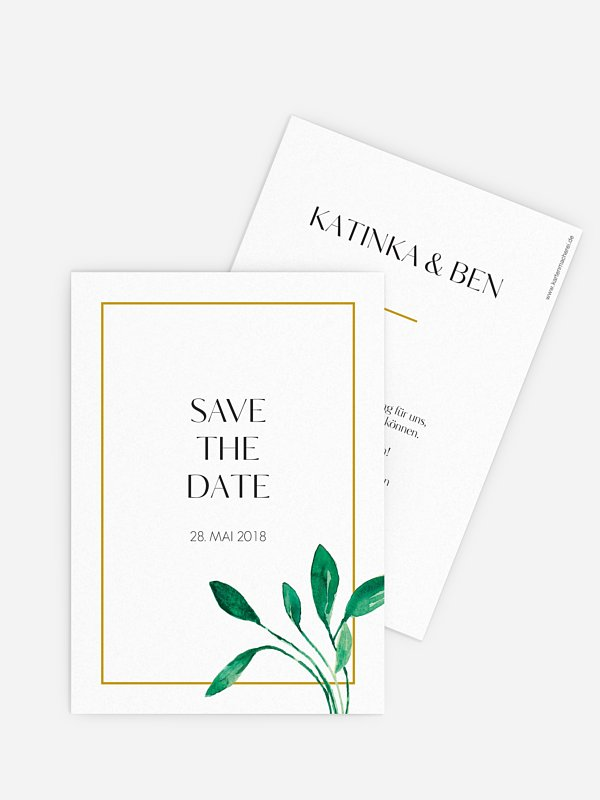 Save-the-Date Karte Botanic Love