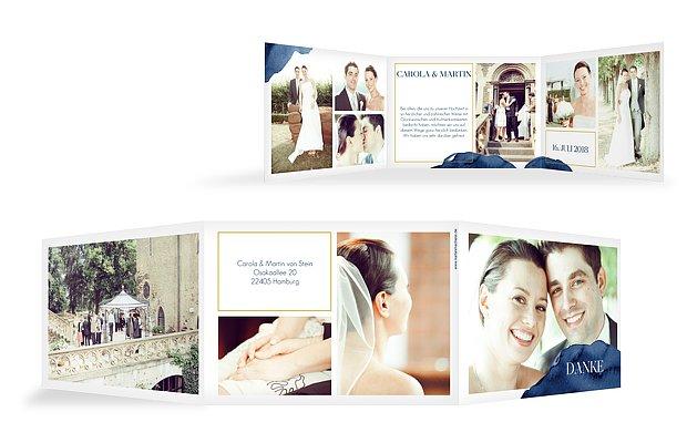 Dankeskarte Hochzeit Modern Aquarelle