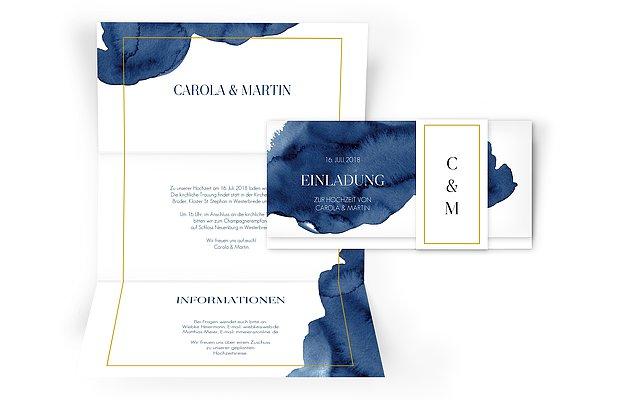 Hochzeitseinladung Modern Aquarelle