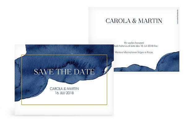 Save-the-Date Karte Modern Aquarelle