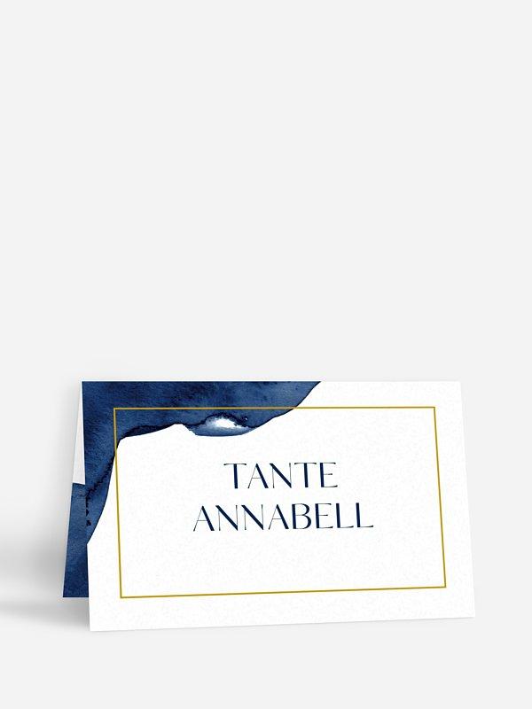 Tischkarte Hochzeit Modern Aquarelle