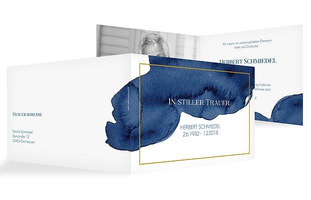 Trauerkarte Modern Aquarelle