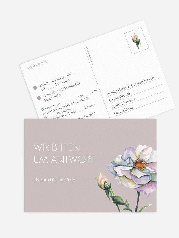 Antwortkarte Hochzeit Floret