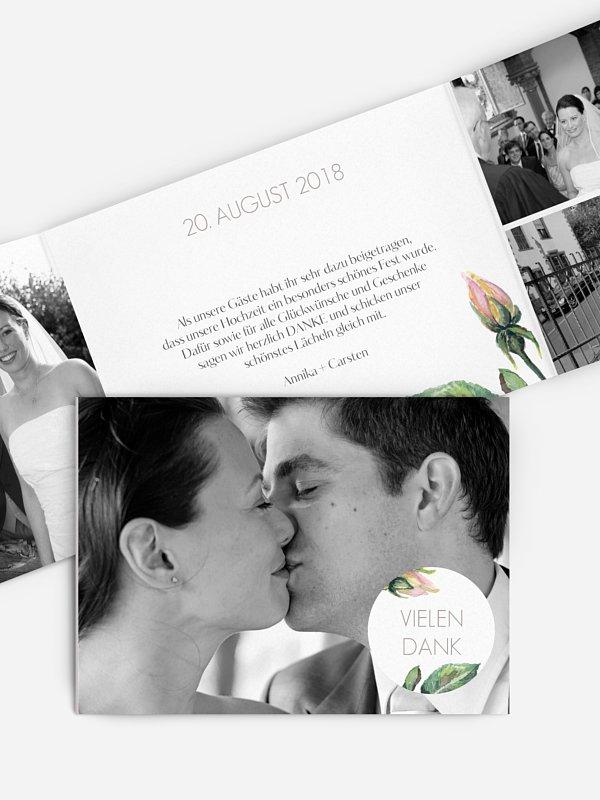 Dankeskarte Hochzeit Floret