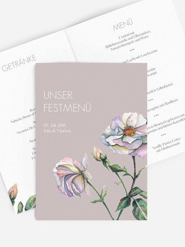 Menükarte Hochzeit Floret