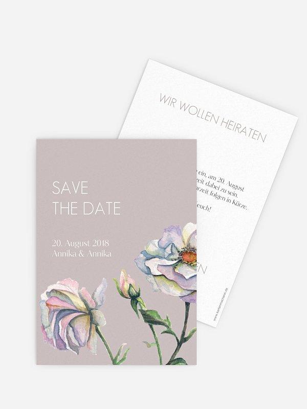 Save-the-Date Karte Floret