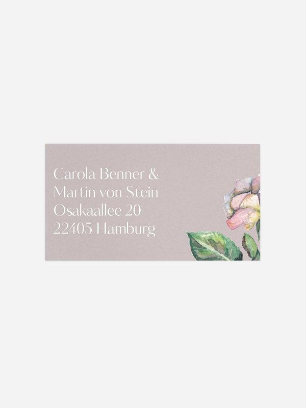 Empfängeraufkleber Hochzeit Floret