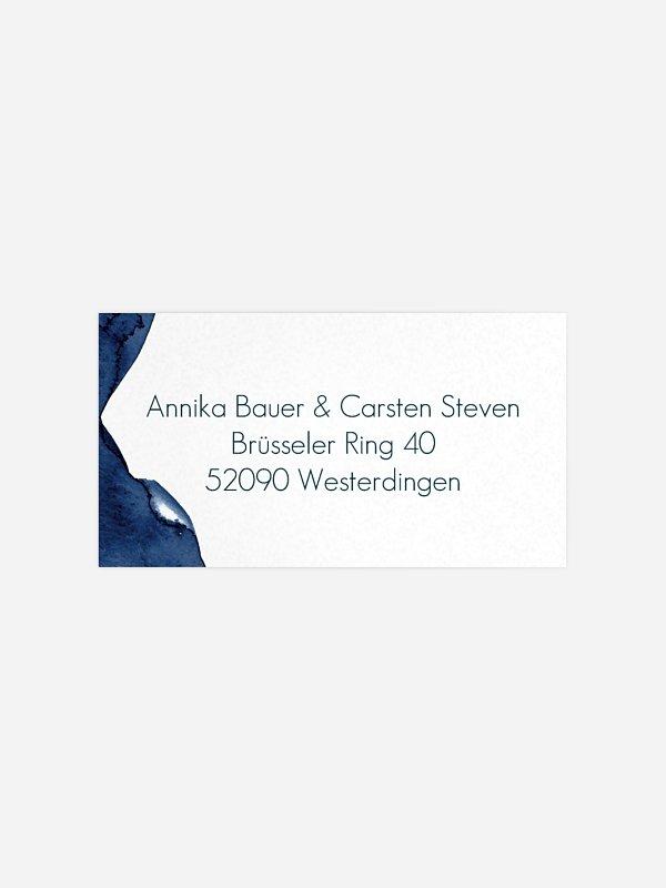 Empfängeraufkleber Hochzeit Modern Aquarelle Premium
