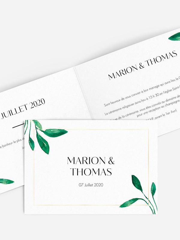 Faire-part mariage Botanique Premium