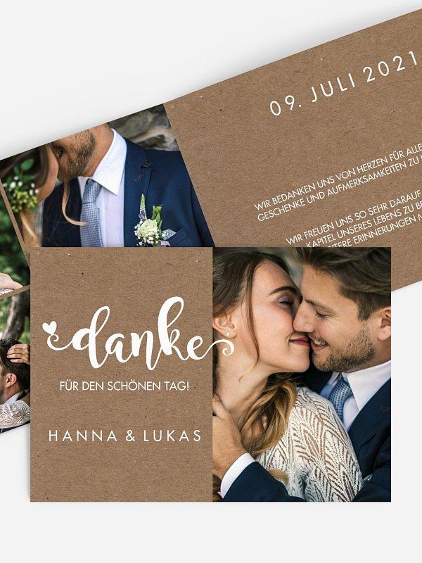 Dankeskarte Hochzeit Wild Love