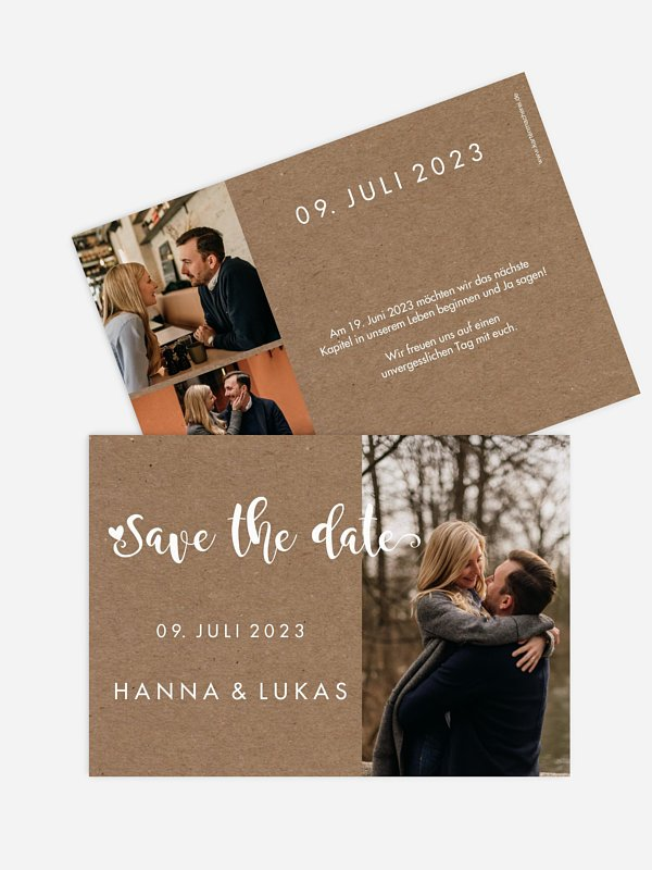 Save-the-Date Karte Wild Love
