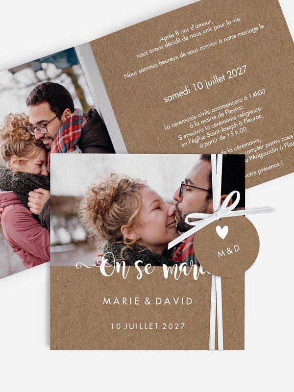 Faire-part de mariage Wild Love