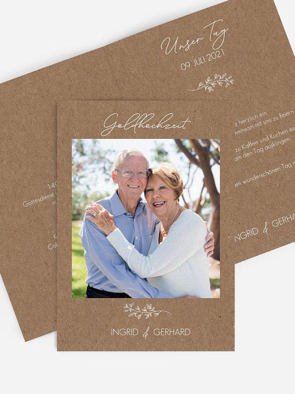 Einladung zur Goldenen Hochzeit Lovely Romance