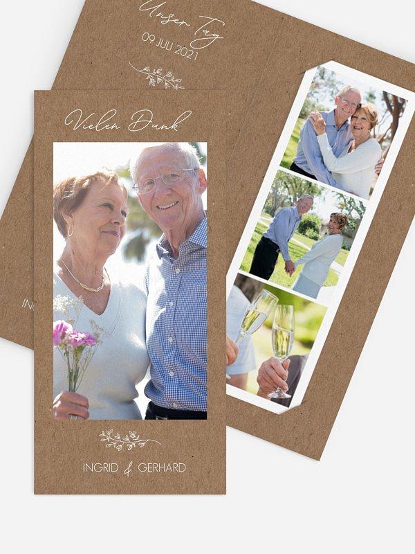 Danksagung zur Goldenen Hochzeit Lovely Romance