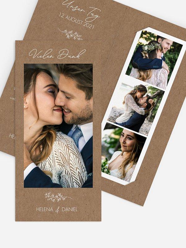 Dankeskarte Hochzeit Lovely Romance