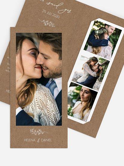 Wir haben geheiratet Karte Lovely Romance