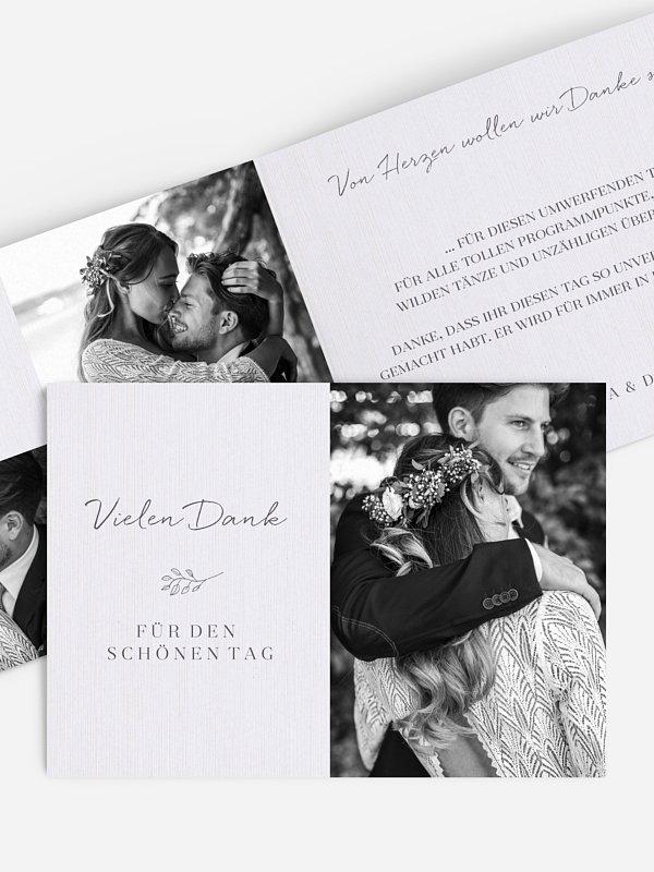 Dankeskarte Hochzeit Everlasting