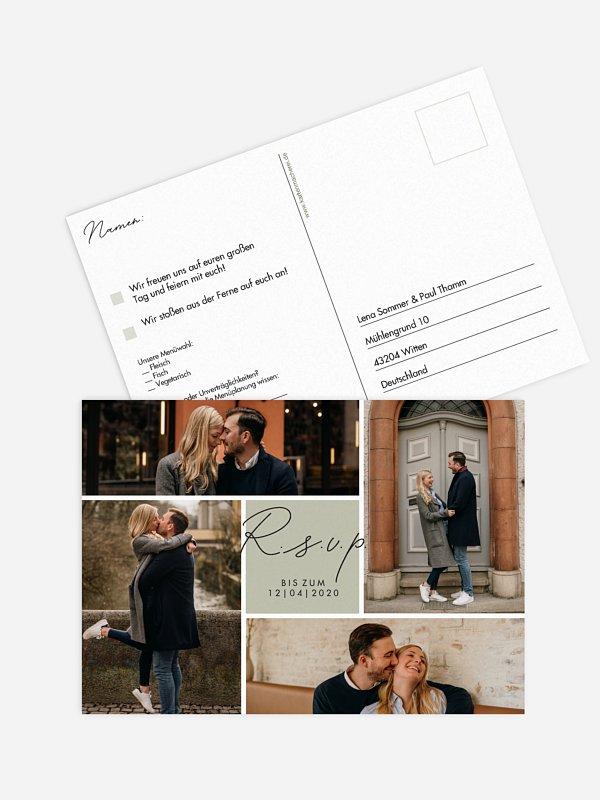 Antwortkarte Hochzeit Lasting Memories