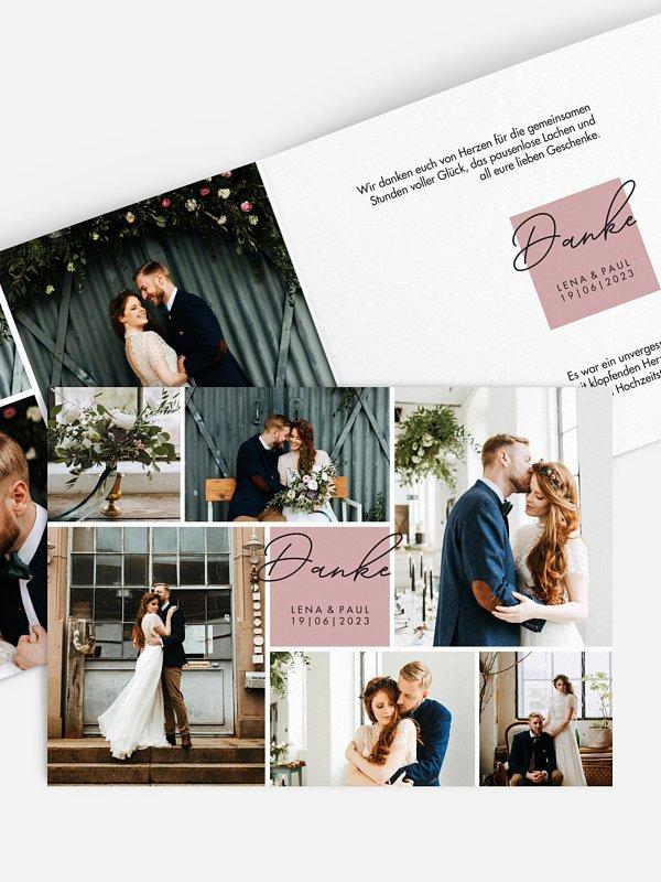 Dankeskarte Hochzeit Lasting Memories
