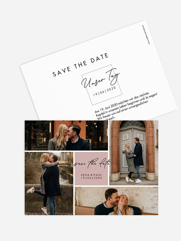 Save-the-Date Karte Lasting Memories