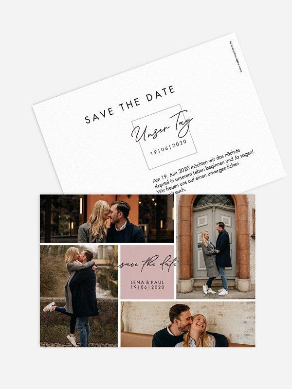 Save-the-Date Karte Lasting Memories