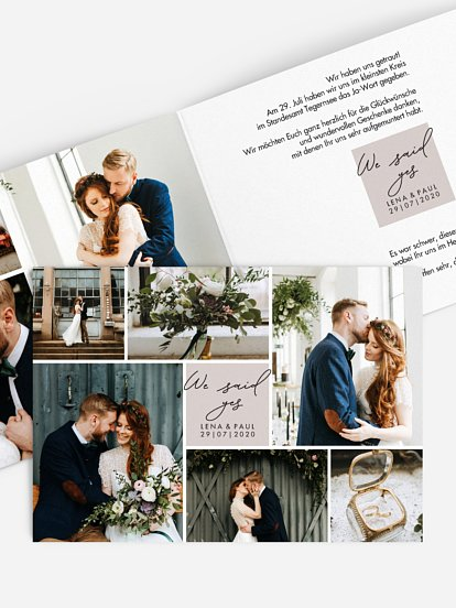 Wir haben geheiratet Karte Lasting Memories