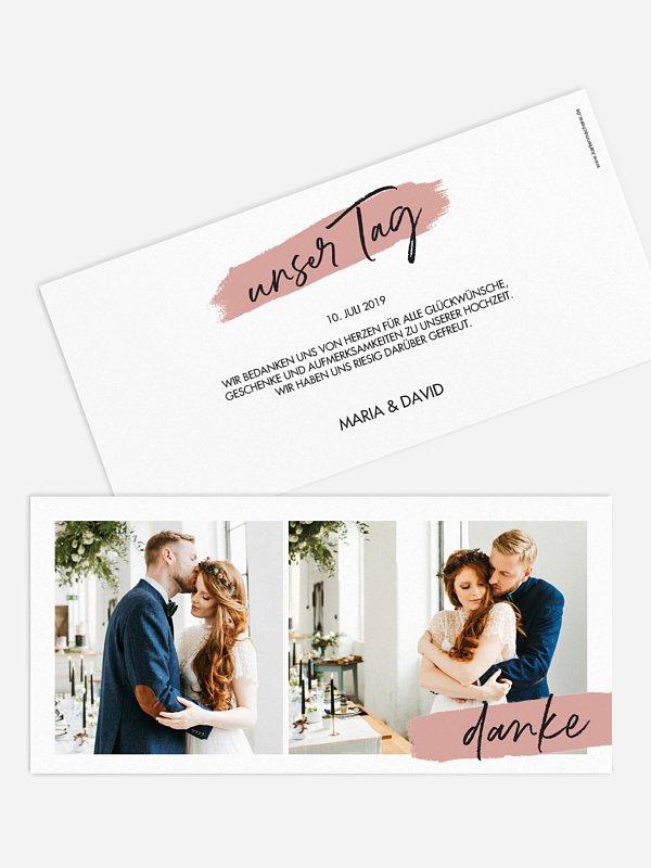 Dankeskarte Hochzeit Blush