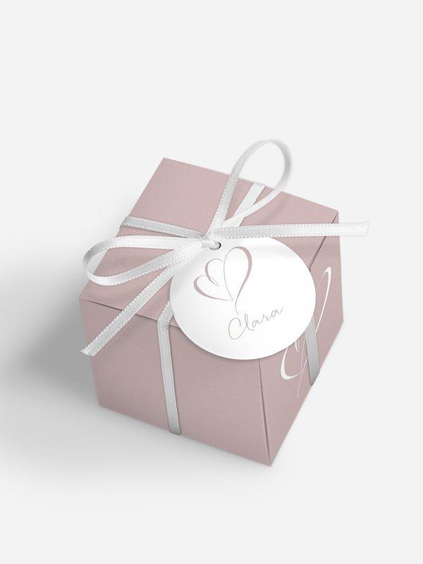Gastgeschenkbox personalisiert Herz an Herz
