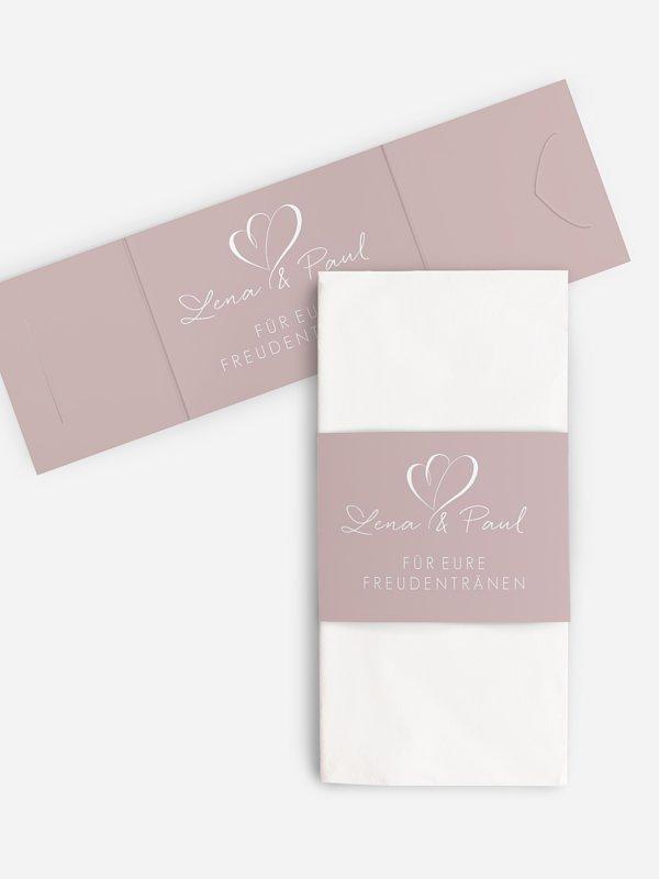 Freudentränen-Taschentücher Herz an Herz